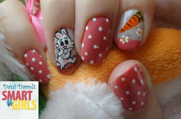 Capa unha coelho cenoura Nail Art -Dani Darolt - Smartgirls