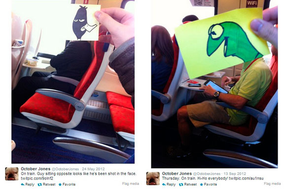 Passageiro-de-trem-personagens-engraçados