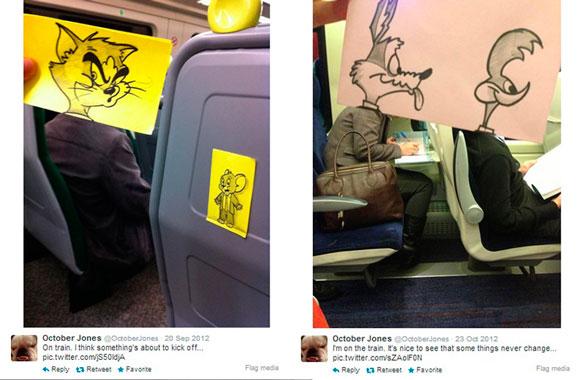 passageiros-de-trem-transformados-em-looney-toones