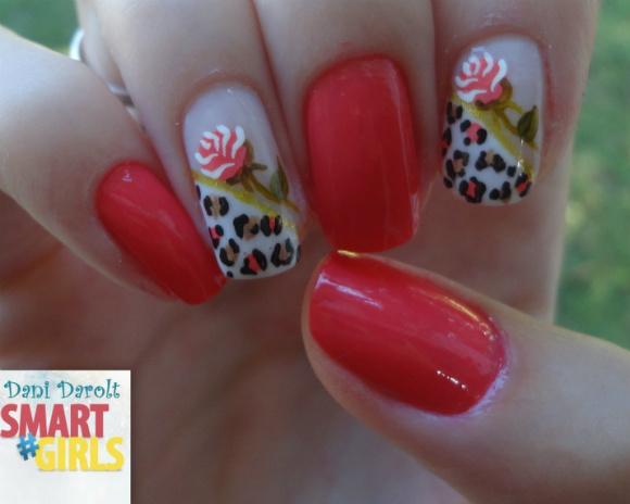 Nail art- decorada - Dani Darolt - Smartgirls - avon - flor - xadrez - glitter - 2014 (1)