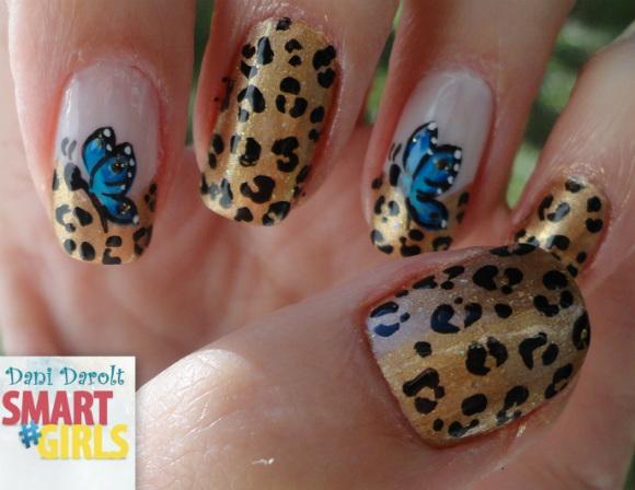 Nail art- decorada - Dani Darolt - Smartgirls - avon - flor - xadrez - glitter - 2014 (3)