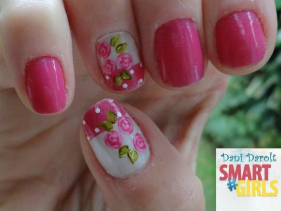 Nail art- decorada - Dani Darolt - Smartgirls - avon - flor - xadrez - glitter - 2014 (5)