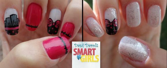 Nail art- decorada - Dani Darolt - Smartgirls - avon - flor - xadrez - glitter - 2014 (7)