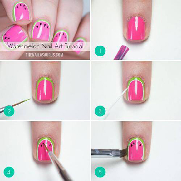tutorial-nail-art-de-melancia