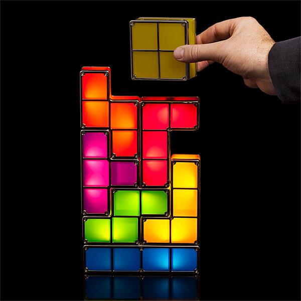 luminária de tetris